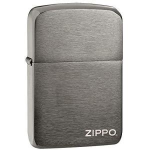 ZIPPO(ジッポー) 1941 Replica Lighters (レプリカ ライター) 日本未発売 Black Ice Logo [並行輸入品]|bbmarket