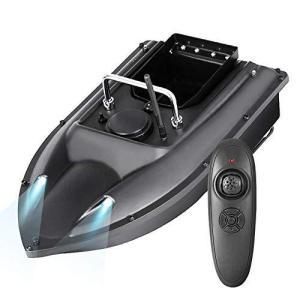 Kinbelle 釣り餌ボート スマートフィッシングベイト ワイヤレス 耐水性 耐風性 低エネルギー 操作簡単 フロントランプリモコン付き|bbmarket