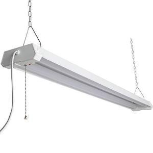 Hzfluo LED蛍光灯 配線工事不要 ACプラグ付 プルスイッチ付 器具一体型 2灯式 一般蛍光灯40W型(高輝度) x2灯相当 4000lm 三|bbmarket