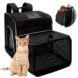 WinSun 拡張可能 ペットキャリーバッグ 大容量 避難用 リュックバッグ 犬キャリーバッグ 猫キャリーバッグ 3way仕様通気性 犬リュック 猫リ bbmarket