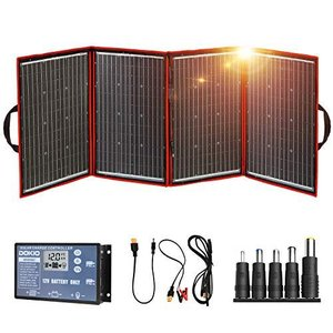 DOKIO ソーラーパネル 200w セット 折りたたみ式 単結晶 太陽光発電キット ポータブル電源 バッテリー充電用 USB(18V)出力端子 防災|bbmarket