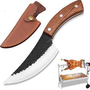 ボーニングナイフ アウトドアナイフ NedFoss アウトドア用包丁 菜切包丁 かっこいい 出刃包丁 黒打ち仕上げ手作りの鍛造包丁 狩猟解体包丁 骨切|bbmarket