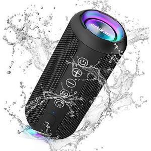 Ortizan Bluetooth スピーカー 防水IPX7 ワイヤレススピーカー お風呂適用 LEDライト付き 30時間連続再生 24W出力 小型|bbmarket