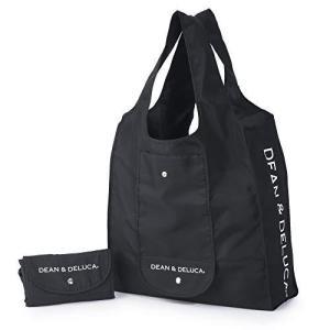 DEAN & DELUCA ショッピングバッグ ブラック エコバッグ 折りたたみ 軽量 コンパクト レジ袋 マイバッグ 縦430mm × 横370mm bbmarket