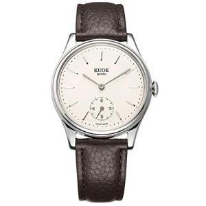 [クオ]KUOE 日本製 国産 腕時計 ウォッチ 京都ブランド クラシック アンティーク バーインデックス 35mmケース メンズ レディース (シュ|bbmarket