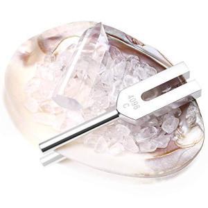 音叉 クリスタルチューナー 4096hz ヒーリング 浄化 天然水晶 パール貝付 6点セット 水晶|bbmarket