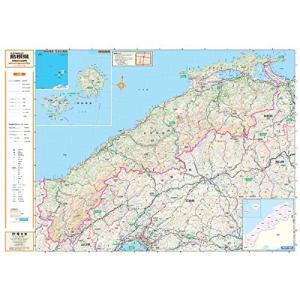 ポスター地図 | マップル (スクリーンマップ 分県地図 島根県)|bbmarket