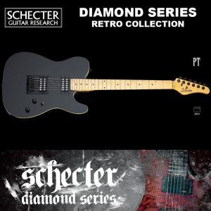 シェクター SCHECTER / RETRO Collection PT BLK <AD-PT> テレキャスター・タイプ ダイヤモンドシリーズ 送料無料|bbmusic
