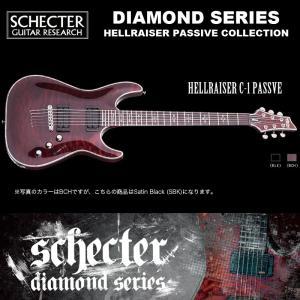 シェクター SCHECTER / HELLRAISER C-1 PASSIVE SBK / ヘルレイザー C1 パッシブ ブラック ダイヤモンドシリーズ 2015年モデル 送料無料|bbmusic