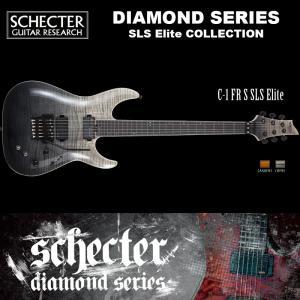 シェクター SCHECTER / C-1 FR S SLS Elite | AD-C-1-FR-SLS-EL/SN | C1 フロイドローズ サステイニアック SLSエリート 黒 ダイヤモンドシリーズ 送料無料|bbmusic