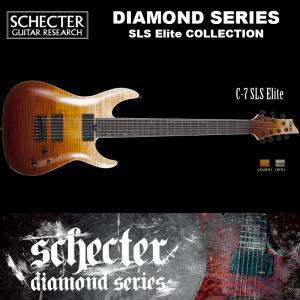 シェクター SCHECTER / C-7 SLS Elite | AD-C-7-SLS-EL | C7 SLSエリート 7弦ギター アンティーク フェイド バースト ダイヤモンドシリーズ 送料無料|bbmusic