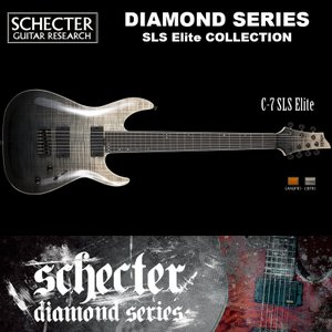 シェクター SCHECTER / C-7 SLS Elite | AD-C-7-SLS-EL | C7 SLSエリート 7弦ギター ブラック フェイド バースト(黒) ダイヤモンドシリーズ 送料無料|bbmusic