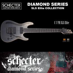 シェクター SCHECTER / C-7 FR SLS Elite | AD-C-7-FR-SLS-EL | C7 フロイドローズ SLSエリート 7弦ギター ブラック(黒) ダイヤモンドシリーズ 送料無料|bbmusic