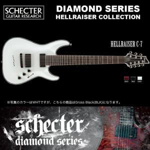シェクター SCHECTER / Hellraiser C-7 BLK ヘルレイザー C7 7弦ギター ダイヤモンドシリーズ 送料無料|bbmusic