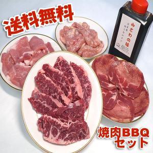 焼き肉セット ハラミ 牛肉 豚肉 鶏肉 自家製タレ付属 1.4kg 冷凍便発送 (BBQ バーべキュー)焼肉|bbq