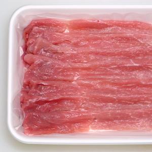 すき焼き用 豚肉 国産 豚モモ(やまざきポーク青森県産) 500g スライス bbq