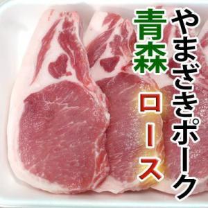 ステーキ とんかつ 豚肉 国産 豚ロース(やまざきポーク青森県産) 冷凍 約100g×2枚|bbq