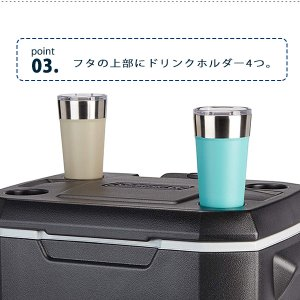 コールマン エクストリーム 5 ホイール クーラー 50QT 容量約47L キャスター付き クーラーボックス 大型 bbrbaby 06