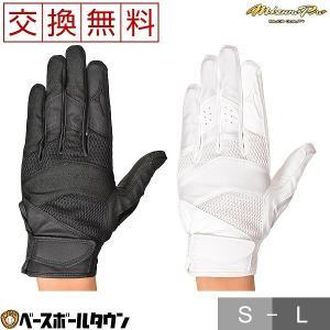 ミズノプロ 守備手袋 片手用 高校野球ルール対応モデル 1EJED200 201 メール便可|bbtown