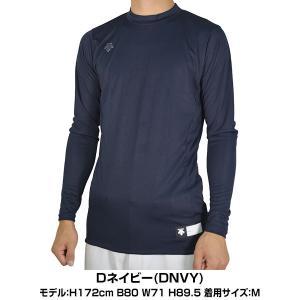 デサント アンダーシャツ 野球 丸首長袖リラックスフィットシャツ STD-751 メール便可|bbtown|03