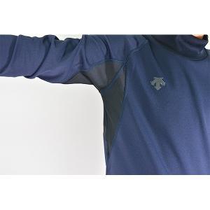 メール便可 デサント 野球 アンダーシャツ ジュニアハイネック長袖リラックスフィットシャツ 軽量保温 JSTD-652 少年用 メンズ|bbtown|13