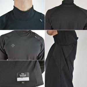 デサント 野球 長袖アンダーシャツ ハイネック リラックスフィットシャツ メール便可 軽量保温 STD-652 メンズ|bbtown|05