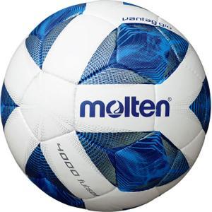 molten フットサルボール ヴァンタッジオフットサル4000 4号 検定球 ホワイト×ブルー F...