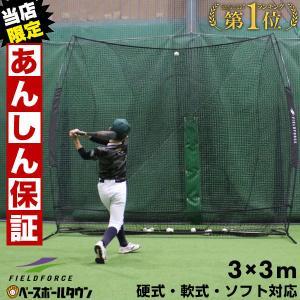 野球 練習 ネット 硬式 軟式 ソフトボール対応 3m×3m ビッグネット 打撃 バッティング FBN-3030 フィールドフォース 4/30(火)発送予定 予約販売|bbtown