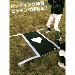 野球 バッターボックス・リアル 学童野球公式サイズ 右バッター・左バッター対応 練習用品 FBTBP-200 フィールドフォース|bbtown|03