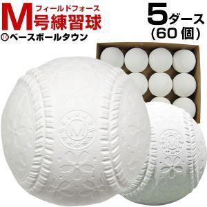 フィールドフォース 軟式練習球 M号 5ダース(60個) 一般・中学生向け メジャー 練習用 新規格 M球 FNB-7212M|bbtown