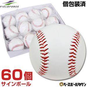 野球 サインボール 硬式球デザイン 60個売り 個包装済み サイン用 FSB-0905 フィールドフォース|bbtown