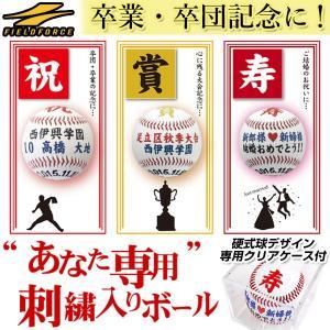 野球 あなた専用 刺繍入りボール 硬式球デザイン 専用クリアケース付き 受注生産・約50日 フィールドフォース