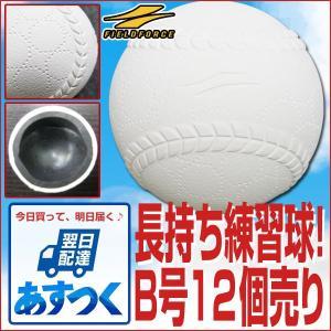 野球 ボール B号練習球 ダース売り 12個セット 上手くなる軟式練習球 B球 軟球 軟式ボール FNB-7012B フィールドフォース|bbtown