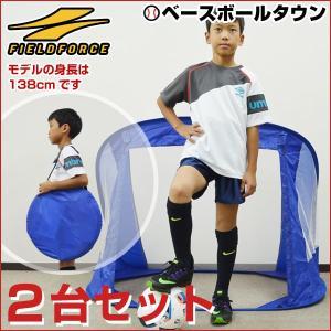 折りたたみミニサッカー・フットサル用ゴール 2台セット 125×90cm 専用バッグ付 FSG-125A フィールドフォース|bbtown