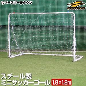 1台売り ミニサッカーゴール スチール製 180cm×120cm 軽量(約5.2kg) 室内 屋外兼用 フィールドフォース サッカー館 ラッピング不可