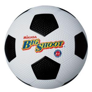 ミカサ サッカーボール ビッグシュート 4号球 ゴム 白/黒 F4-WBK P5_SCメンズ|bbtown