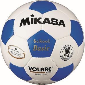 ミカサ サッカーボール5号球 検定球 白 青 SVC502SBC-WB|bbtown