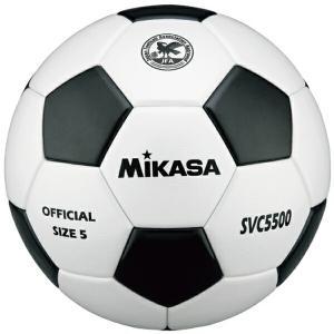 ミカサ サッカーボール 検定球5号 貼り 白黒 SVC5500-WBK