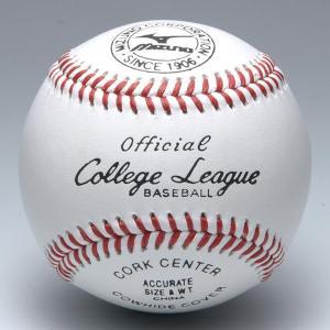 ミズノ ボール 野球 硬式 カレッジリーグ 高校試合球 1ダース 1BJBH10300 取寄|bbtown