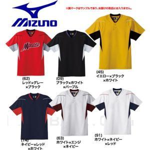 ミズノ ベースボールシャツ 野球 ハーフボタン・小衿タイプ 52MW451 取寄