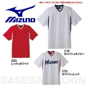 ミズノ ベースボールシャツ 野球 ハーフボタン・小衿タイプ 52MW454 取寄
