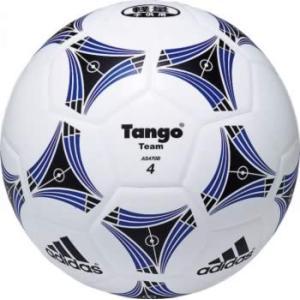 名入れ可(有料) サッカーボール アディダス タンゴチーム 軽量4号球 白×青 AS470B P5_SCメンズ|bbtown