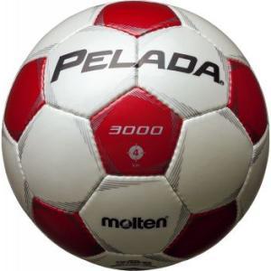 名入れ可(有料) モルテン サッカーボール ペレーダ3000 4号球 シャンパンシルバー×メタリックレッド P5_SCメンズ|bbtown