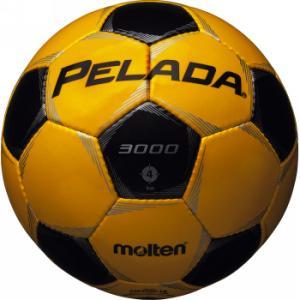 名入れ可(有料) モルテン サッカーボール ペレーダ3000 4号球 メタリックイエロー×メタリックブラック P5_SCメンズ|bbtown