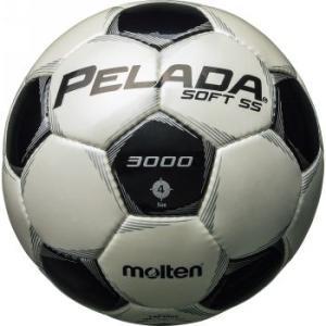 名入れ可(有料) モルテン サッカーボール ペレーダ3005 4号球 シャンパンシルバー×メタリックブラック P5_SCメンズ|bbtown