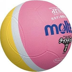 モルテン ドッジボール ライトドッジ 1号球 ピンク×黄 SLD1PL メンズ
