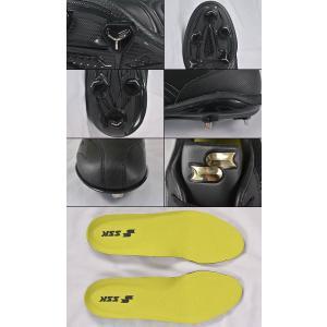 SSK スパイク 埋込金具 マキシライトY-NEO ブラック×ブラック ローカット SSF3000 野球 一般用 メンズ 男性 大人 高校野球対応|bbtown|04