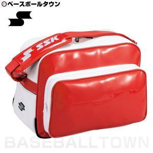 SSK 野球 ショルダーバッグ 約36L レッド BA8000 部活 合宿 旅行 林間学校 かばん|bbtown