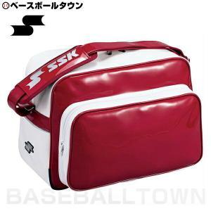 SSK 野球 ショルダーバッグ 約36L エンジ BA8000 取寄 部活 合宿 旅行 林間学校 かばん|bbtown