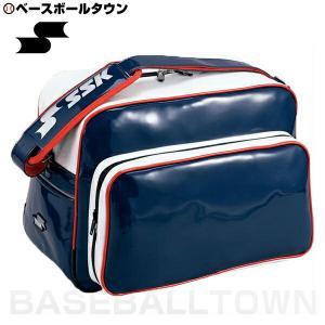 SSK 野球 ショルダーバッグ 約36L ネイビー×ホワイト×レッド BA8000 部活 合宿 旅行 林間学校 かばん|bbtown